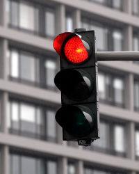 Die Lichtzeichenanlage ist in der Regel eine gewöhnliche Ampel.