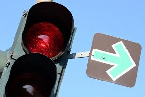 Die Rangfolge der Lichtzeichenanlage wird in der StVO festgelegt.