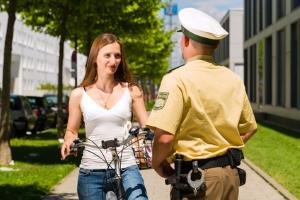 Auch auf dem Fahrrad sind Punkte in Flensburg möglich.